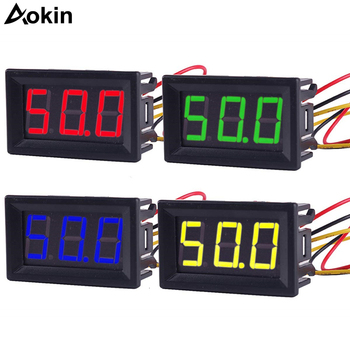 DC 2.5V to 30V Digital Voltmeter Voltage Panel Meter Red/Blue/Green For 6V 12V Electromobile Motorcycle Car image