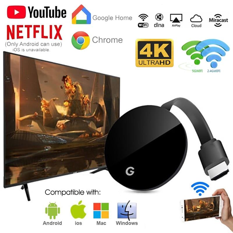WiFi Wireless Display Dongle TV Stick Full 1080P Chromecast HDMI Miracast DLNA TV Cast Display iOS/Android Chrome Google Home(China)