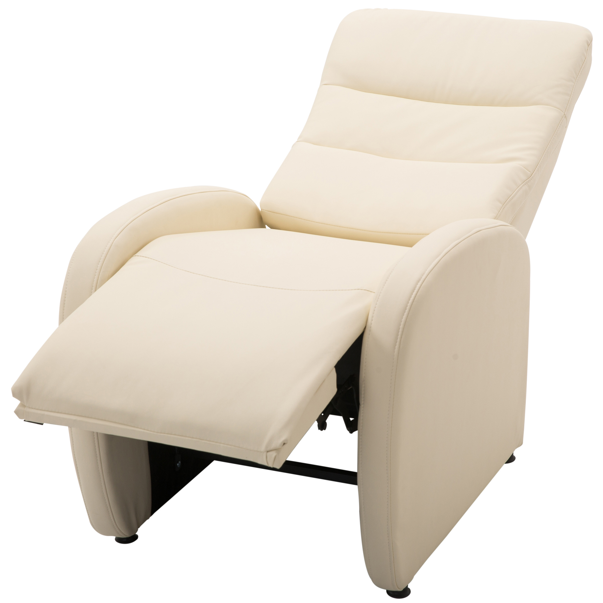 HOMCOM Relaxing Chair Recliner With Ottoman Modern Reach 120 Kg Imitation 67 × 89 × 110 Cm Cream