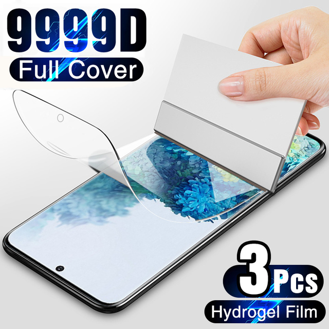 3Pcs Hydrogel Film on the Screen Protector For Samsung Galaxy S10 S20 S9 S8 Plus S7 S6 Edge Screen Protector For Note 20 8 9 10 1