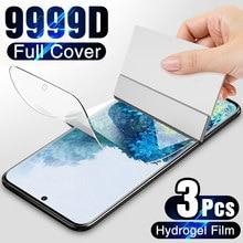 3Pcs Hydrogel Film Op De Screen Protector Voor Samsung Galaxy S10 S20 S9 S8 Plus S7 S6 Edge Screen protector Voor Note 20 8 9 10