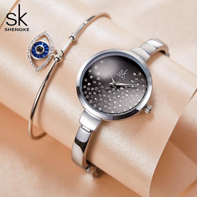 SHENGKE Diamond Ladies Wrist Watch 2019 Women Watches Fashion Gold Women's Watches SK Women's Watch Relogio Feminino Reloj Mujer