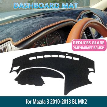 Dla Mazda 3 BL 2010 2011 2012 2013 MK2 antypoślizgowa deska rozdzielcza mata pokrywa wewnętrzna parasol przeciwsłoneczny deska rozdzielcza akcesoria samochodowe tanie i dobre opinie Przednia szyba Inne naklejki 3d 10inch Zwierząt W opakowaniu dash mat Dashmat Carpet dashboard cover dashmat fit inner sun shade dash board