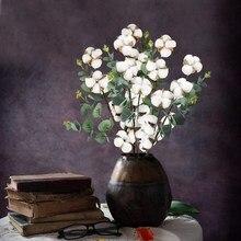 Wysokiej jakości naturalny suszony kwiat bawełny bukiet Diy akcesoria Garland boże narodzenie i nowy rok ślub wakacje dekoracji wnętrz