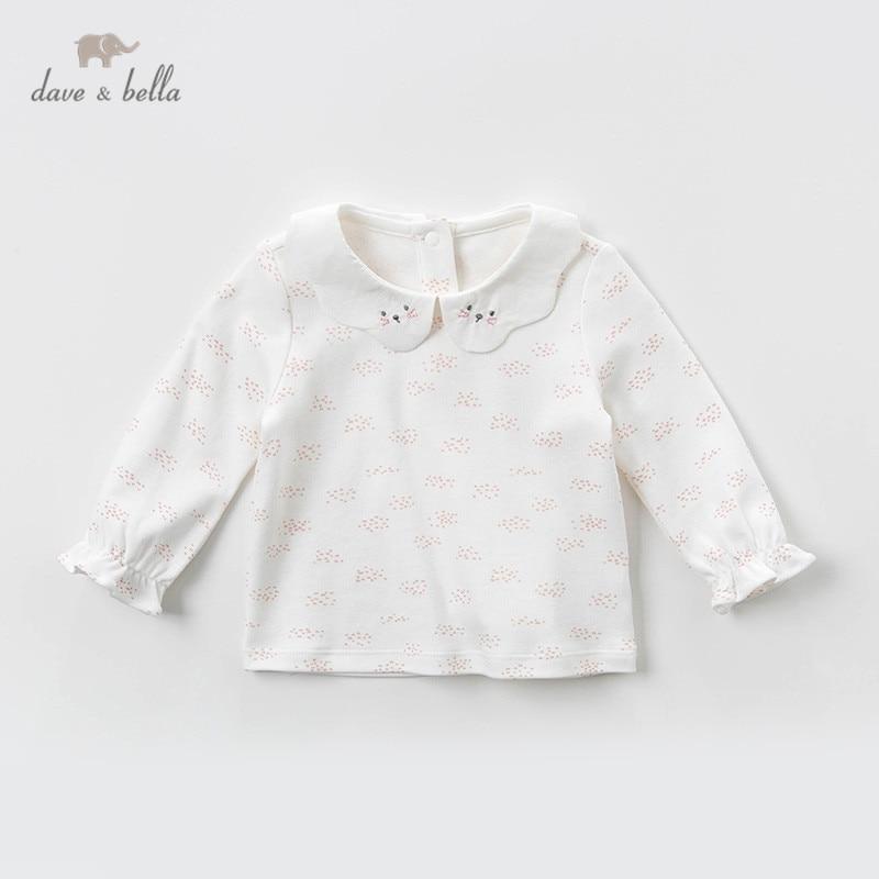 Милые весенние Рубашки для маленьких девочек DBM12827 с мультяшным принтом Дейва Беллы топы для младенцев малышей высококачественная одежда для детей|Блузки и рубашки| | АлиЭкспресс
