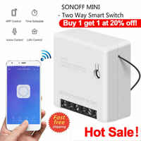 1/2/3/5/6/8/10PCS Sonoff Mini Two Way Intelligent Wifi DIY Switch Smart Home Automation Remote Control Switches Work with Alexa