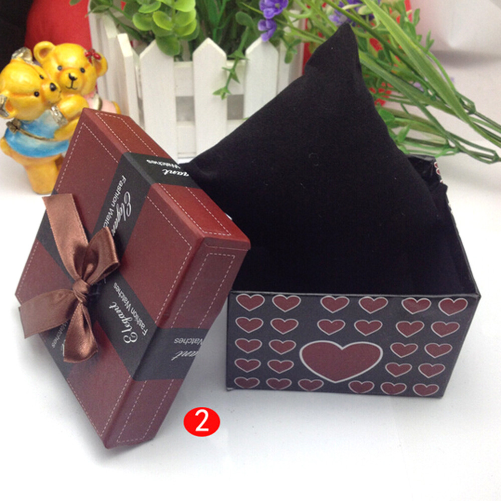 Fashion Gift Box Watch Bow Love Print Bracelet Bracelet Jewelry Watch Box Durable Gift Box ??????? ??? ????? present box 50* | Watch Boxes