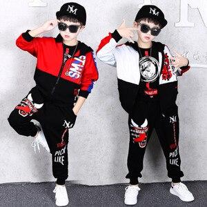 Image 1 - Frühling Kinder Jungen Kleidung Set Frühling Herbst Kinder Kleidung Set 4 6 8 10 12 13 14 Jahre Jungen Sport anzug Mode Kinder Kleidung
