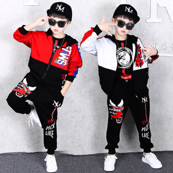 Spring Kids Boys Clothing Set Spring Autumn Kids Clothes Set 4 6 8 10 12 13 14 Years Boys Sports Suit Fashion Children Clothing boys girls sport suits casual children clothing set spring autumn high quality kids clothes 4 5 6 7 8 9 10 year tracksuits