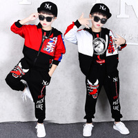 Spring Kids Boys Clothing Set Spring Autumn Kids Clothes Set 4 6 8 10 12 13 Years Boys Sports Suit Fashion Children Clothing