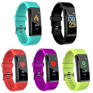 Image 5 - KLW Bluetooth  Watch Color Screen Waterproof Smart Band Heart Rate Blood Pressure Moniter Bracelet  Wristband