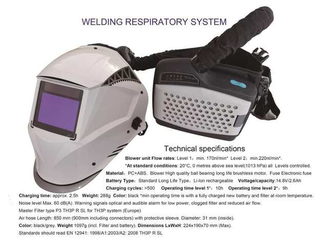 welding mask with respirator