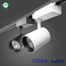 12W 25W LED Track Light Fixtures Wire Phase Adjustable Industrial Rail Spotlight Museum Store Shop Kitchen Home Luminaire Lamp