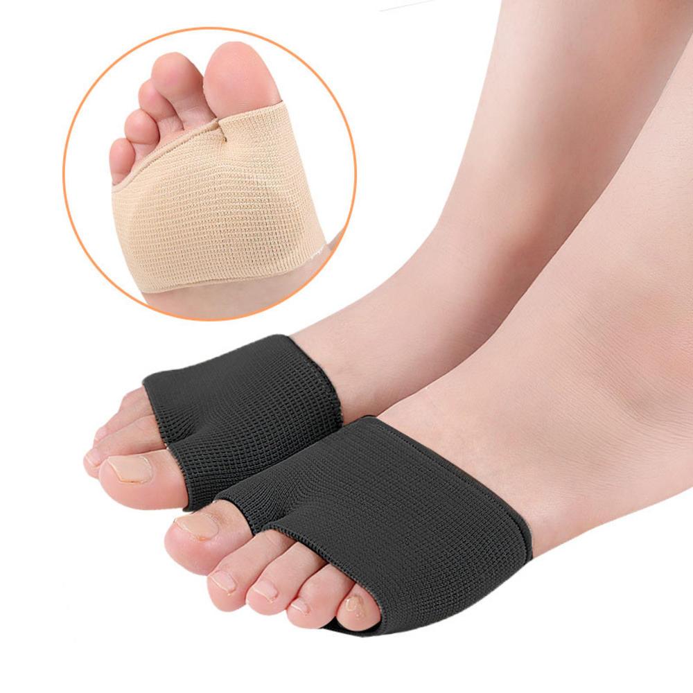 1 пара плюсневых подушечек на рукавах с половинным носком, гелевые подушечки для ног, подушечки на половину носка, предотвращающие появлени...