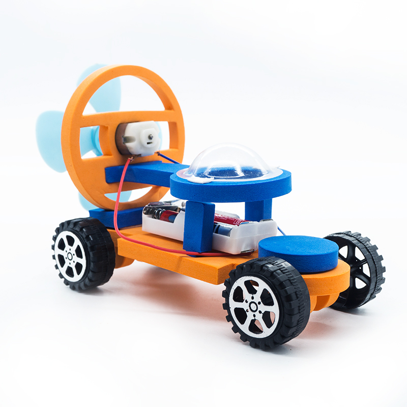 Kids DIY Model Building Kits Electric Racing Car Toys For Children Kids School Technology Science Learning Educational Toys Gift