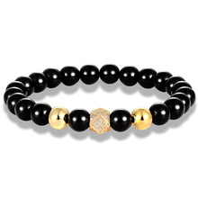 Bracelet for Men Fashion Charm Bracelets luxury CZ Golden Circle Tiger Eye stone bead pulsera hombre armband Jewelry gift fashion obsidian tiger eye stone bracelets for men new natural stone beads man bracelet men charm yoga jewelry gift 2020 pulsera