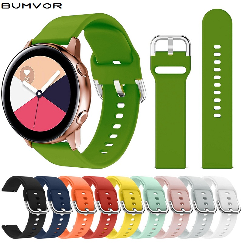 20/42mm 22/46mm Silicone Watchband for Samsung Galaxy Watch Active Gear S3 S2 huawei gt Smart watch replacement Strap SUN200