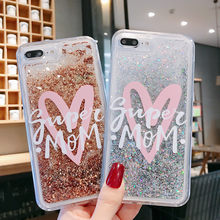 Diamond Luxury Cute Love Heart Bling Glitter Star Dynamic Liquid Quicksand Phone Case For iPhone 6 6S 7 8 Plus X XR XS Max Cases(China)