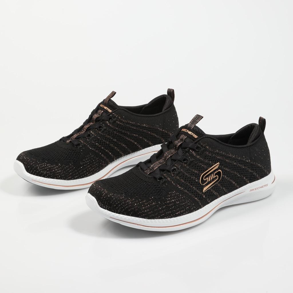 SKECHERS ZAPATILLAS CITY PRO GLOW ON BLACK Negro Lona Mujer – Black SNEAKERS Woman Shoes Casual Fashion 74979