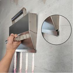 Paleta de hormigón de acero inoxidable herramientas para enlucido para albañil herramientas de construcción de paleta decorativa Herramienta Cemento