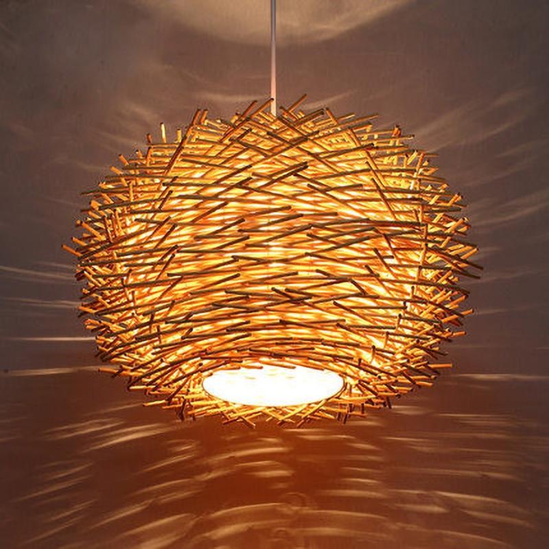 palha lampada criativo pastoral do vintage varanda restaurante lustres 03