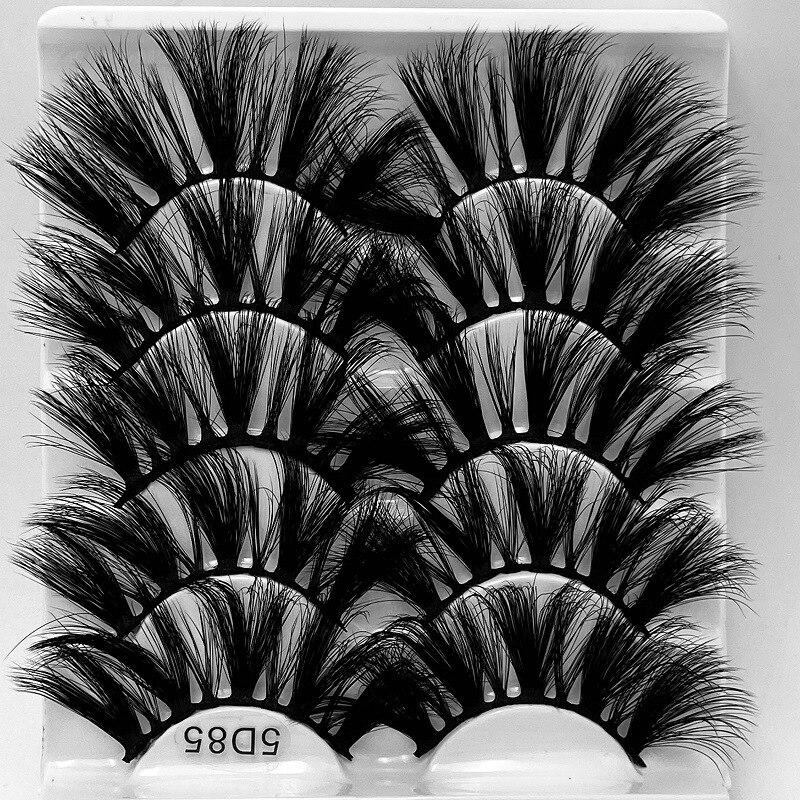 longo falso cílios reutilizáveis artesanal 8 modelos