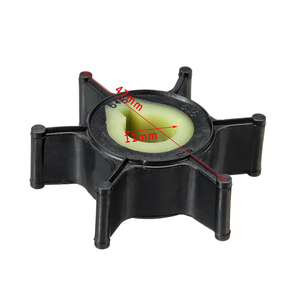 Boat <font><b>Outboard</b></font> <font><b>Motor</b></font> 646-44352-01 Replacement Water Pump Impeller for <font><b>Yamaha</b></font> <font><b>2HP</b></font> for Sierra 18-3072 Rubber for Mariner 47-80395M image