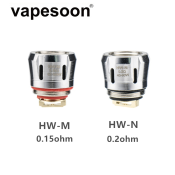 5 pieces HW-M 0.15ohm HW-N 0.2ohm Coil Head Replacement Atomizer Core for Ello Duro Vate Mini TS POP Tank iJust 3 Pro Kit etc eleaf ello series coil head hw1 0 2ohm hw2 0 2ohm hw3 0 3ohm hw n 0 2ohm hw m 0 15ohm for eleaf ello series tank vape vaporizer