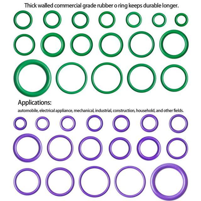 540 pièces/18 tailles joints toriques en caoutchouc, vert/violet joint détanchéité Kit dassortiment pour la plomberie, automobile, réparation générale avec étui
