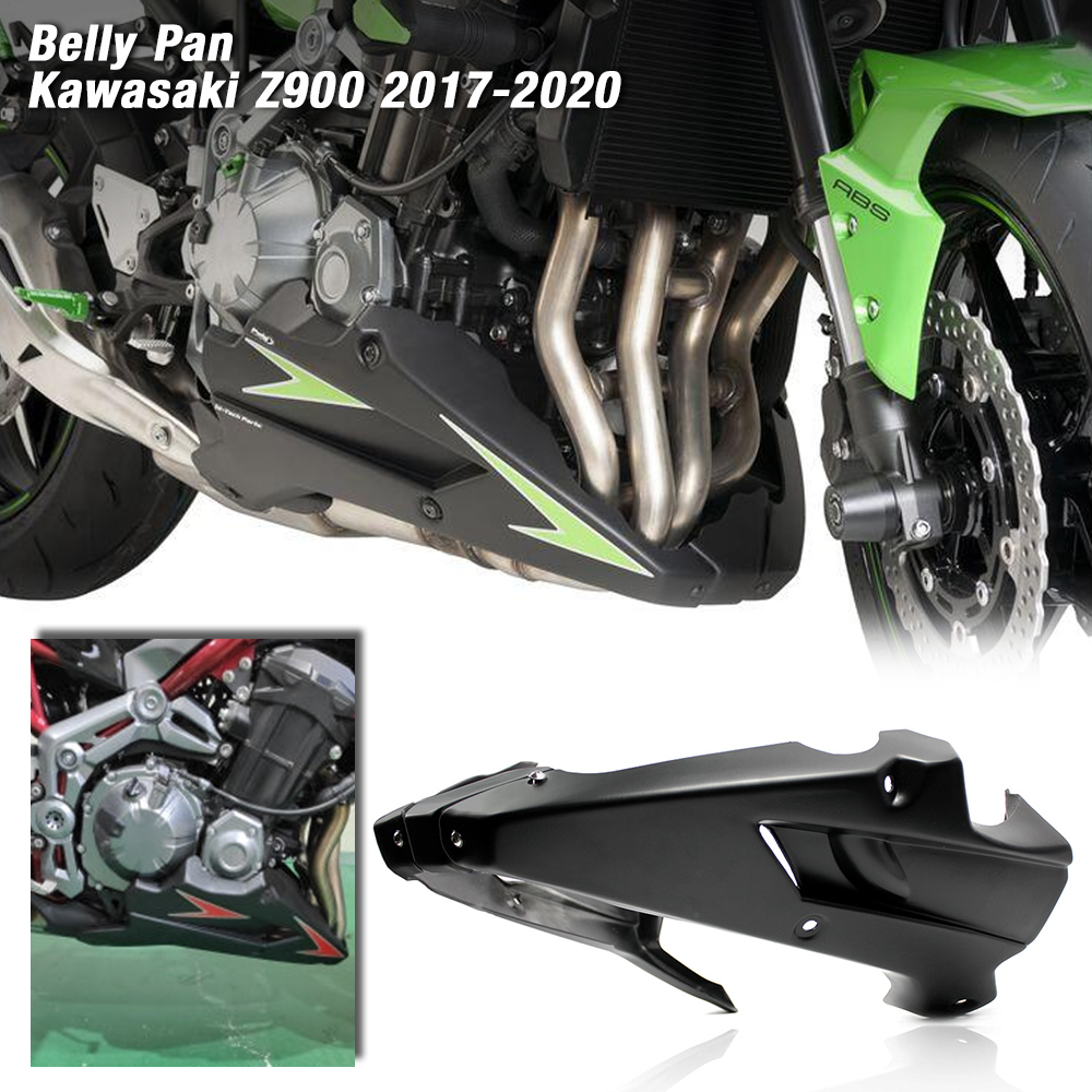 For Kawasaki Z900 2017 2018 2019 2020 Motorcycle Bellypan Belly Pan Engine Spoiler Fairing Body Frame Kit Lower Panel Cowl Cover