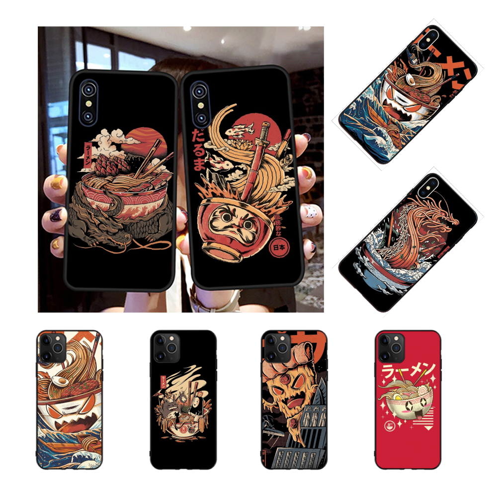 NBDRUICAI Ramen Pesta Kolam Renang Coque Shell Ponsel Case untuk iPhone 11 Pro XS MAX 8 7 6 6S Plus X 5S SE XR Case