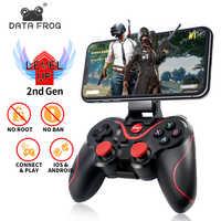 Daten Frosch Drahtlose Bluetooth Gamepad Unterstützung Offizielle App Spiel Controller Für iphone Android Smartphone Für PS3 PC TV Box