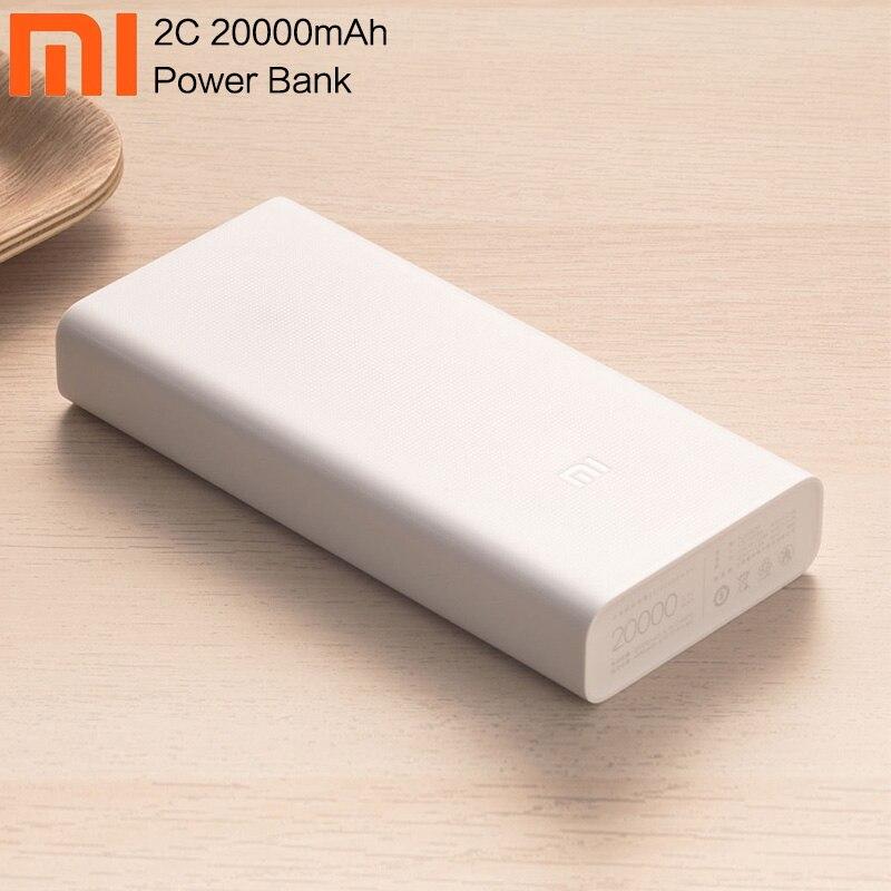 Оригинальный Xiao mi запасные аккумуляторы для телефонов 20000 мАч 2C портативный зарядное устройство Поддержка QC3.0 Dual USB mi внешний батарея банка 20000 для Мобильные телефоны