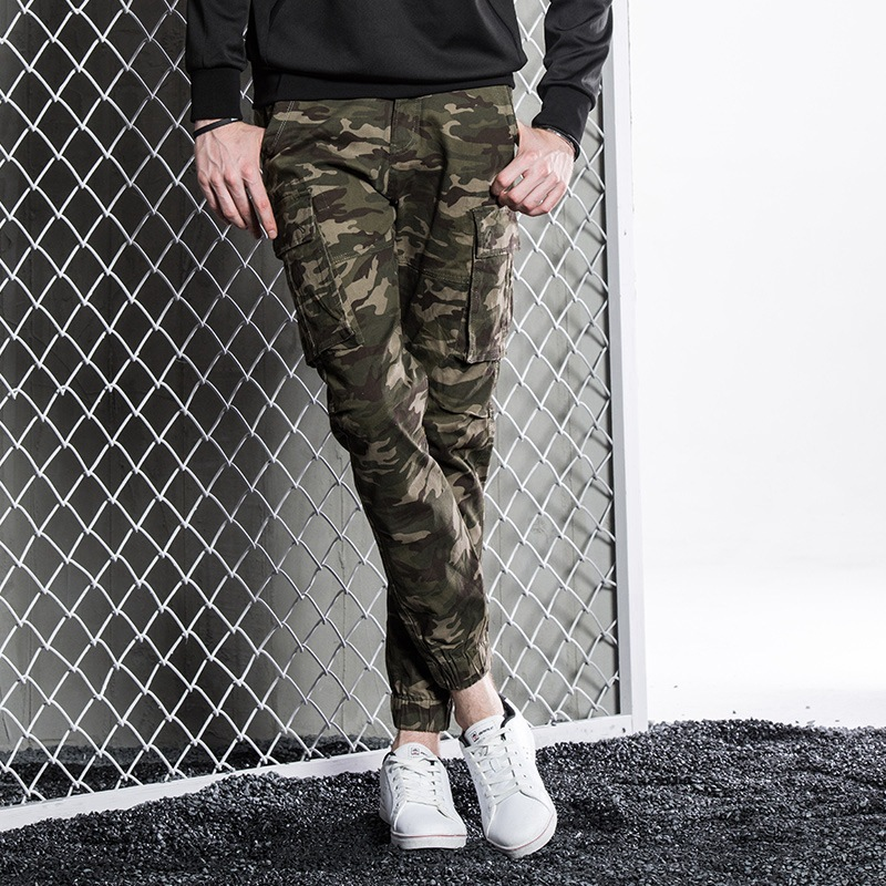 Wolf Warriors 3 Celebrity Style Camouflage Pants Men's Korean-style Trend Casual Men's Trousers Autumn Loose Straight Sports Bea