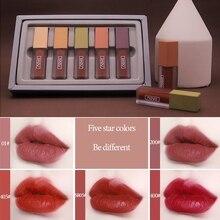NOVO 5pcs/lot Lip Gloss Set Moisturizing Silky Velvet Lip Gl