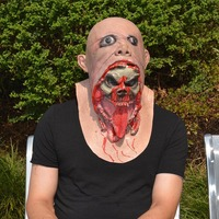 Halloween Zombie Mask Latex Men Melting Horror Dead Scary Full Head Masks Masquerade Party Terror Costume props Masks Bloody