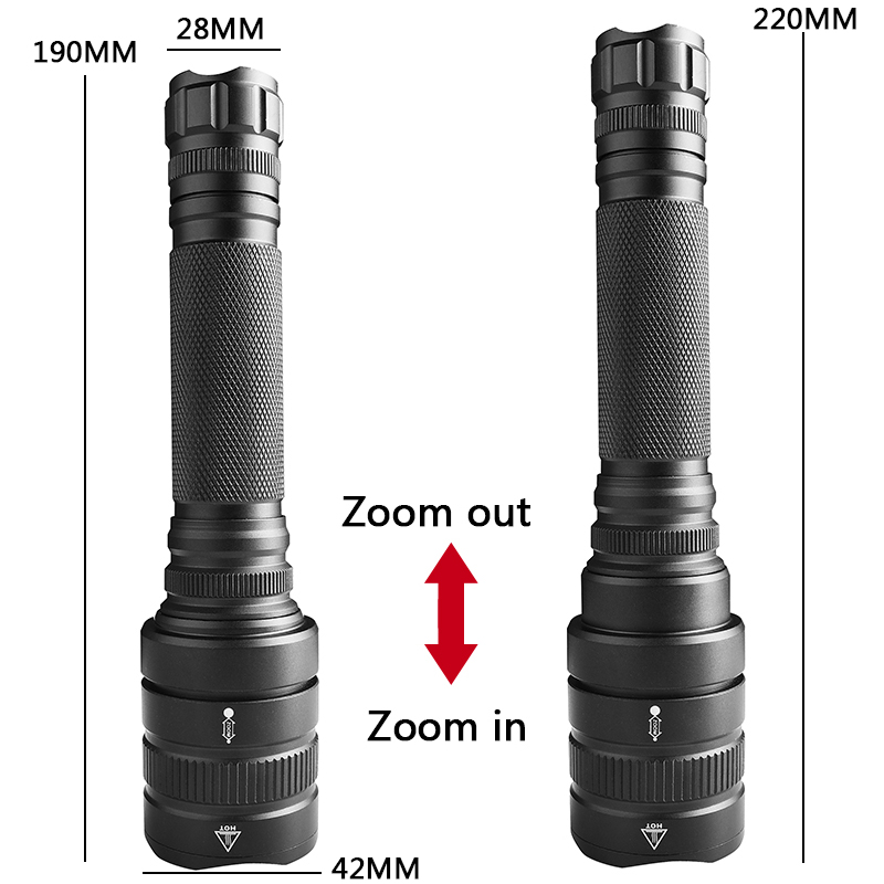lowest price XHP70 2 1515 The most powerful led flashlight  xhp50 XHP70 30w 18650 3200lm zoomable Lantern torch