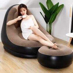 PVC nadmuchiwane leniwy sofy krzesła leżak siedzenia worek fasoli puff puff kanapa tatami salon uciekają sofa w Miękkie pufy od Meble na