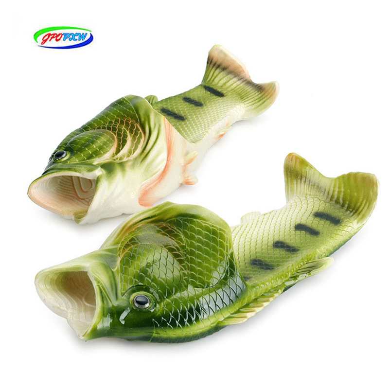 Father-son Slippers Creative Fish-shaped Couple Men Women Summer Outdoor Beach Shoes Trend Personality Fish Open Toe Slippers
