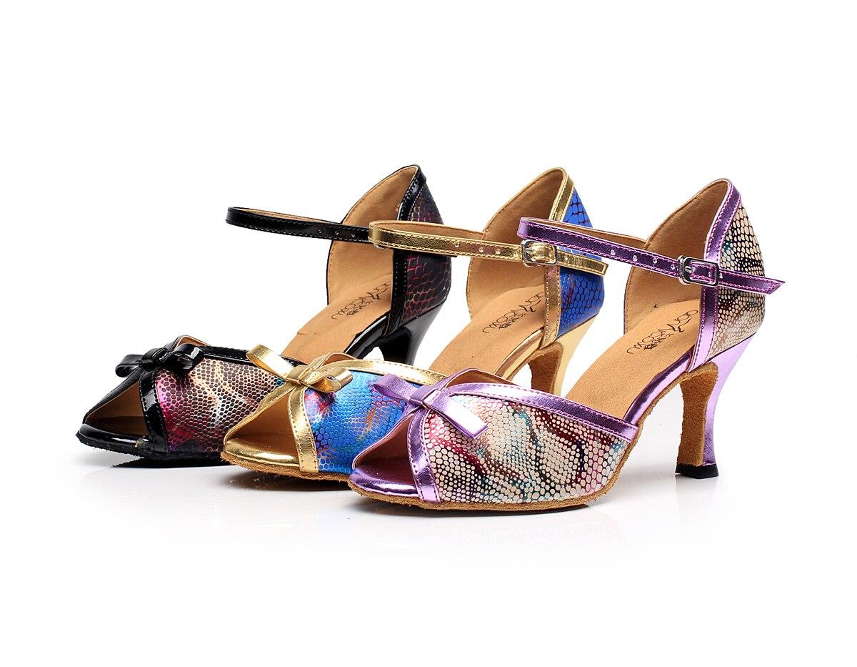 Customizable Salsa Jazz Ballroom Latin Dance Shoes For Dancing Women Chinese Pole Tango Latina Tan High Heels Summer Sandals