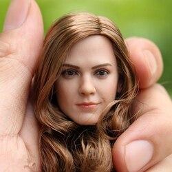 1:6 złote długie loki włosy Emma Watson szef Sculpt dla 12