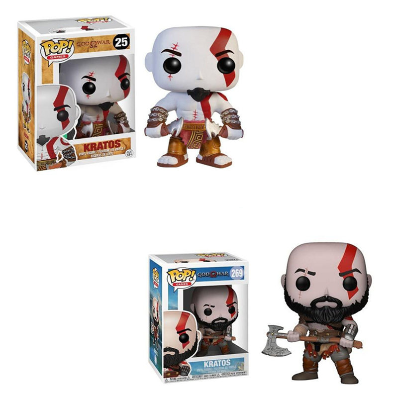 Funko POP New Style God Of War Kratos Toy Pvc Action Figures Brinquedos Collection Model Toys For Children Birthday Gift