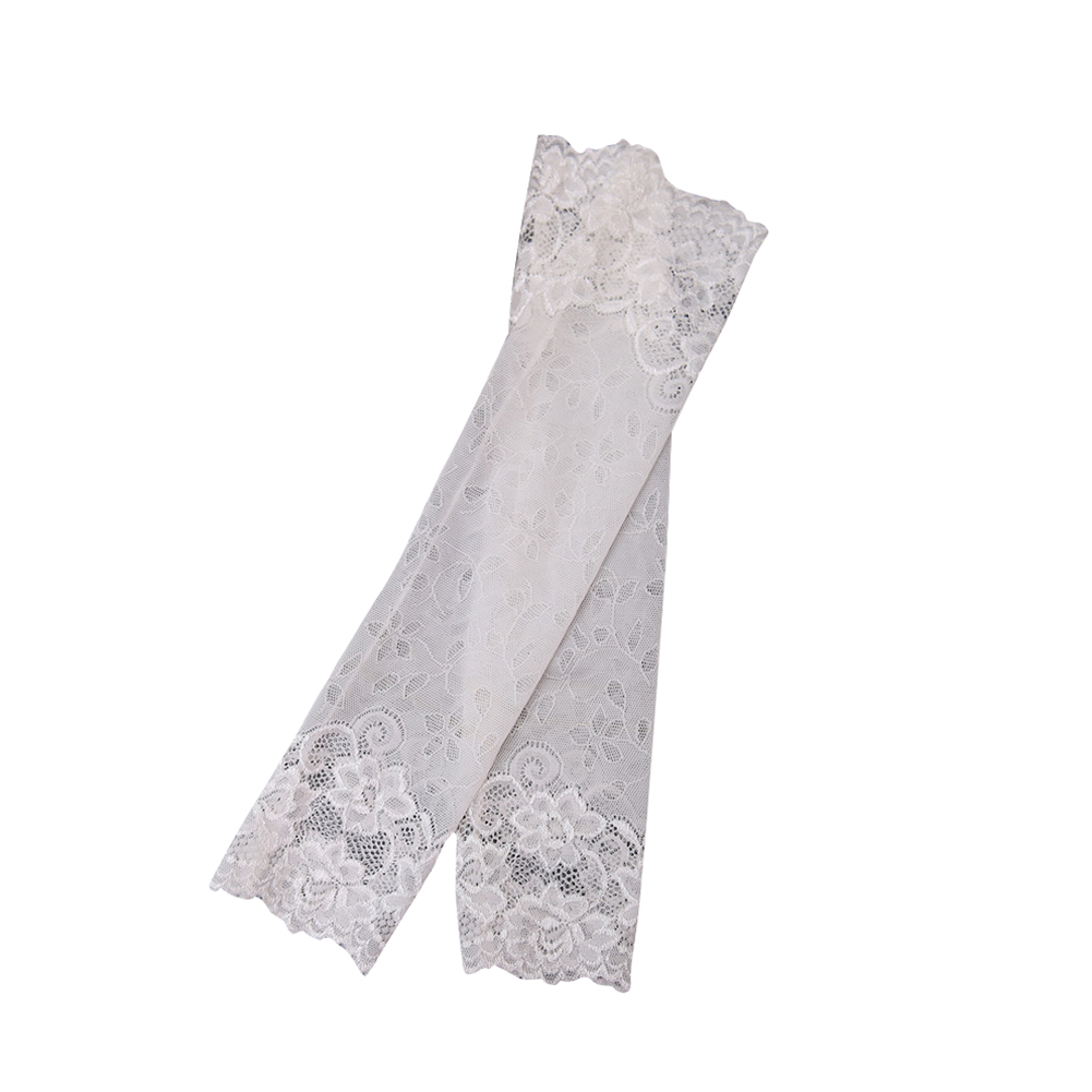 Fashion  Women  Summer  Riding  Sun-proof   Elastic  Thin  Lace  Arm  Sleeves  Oversleeve