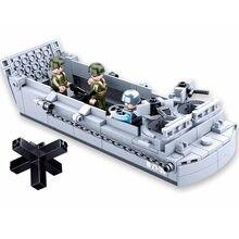 Sluban wwii eua militar higgins landing artesanato de guerra blocos de construção da marinha arma barco guerra mundial 2 moc tijolos modelo clássico brinquedos