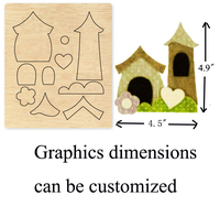 Home, Garden,Church DIY wood moulds die cut accessories for Leather paper felt Steel Punch leather crafts Wood laser dies