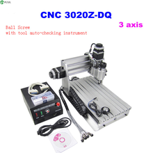 цены 3 Axis 3020Z-DQ CNC Router 3020 CNC Cutting Machine with Ball Screw + 20x3.175mm 1/8