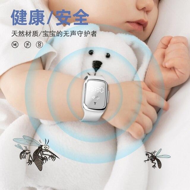 2020 plus récent naturel ultrasons moustique répulsif montre Rechargeable Anti-moustique Bracelet ravageur insecte Bug bannir dispositif