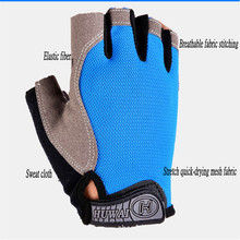 цена на Outdoor Cycling Gloves Bicycle Gloves Bike Gloves Anti Slip Shock Breathable Half Finger Short Sports Gloves Accessories