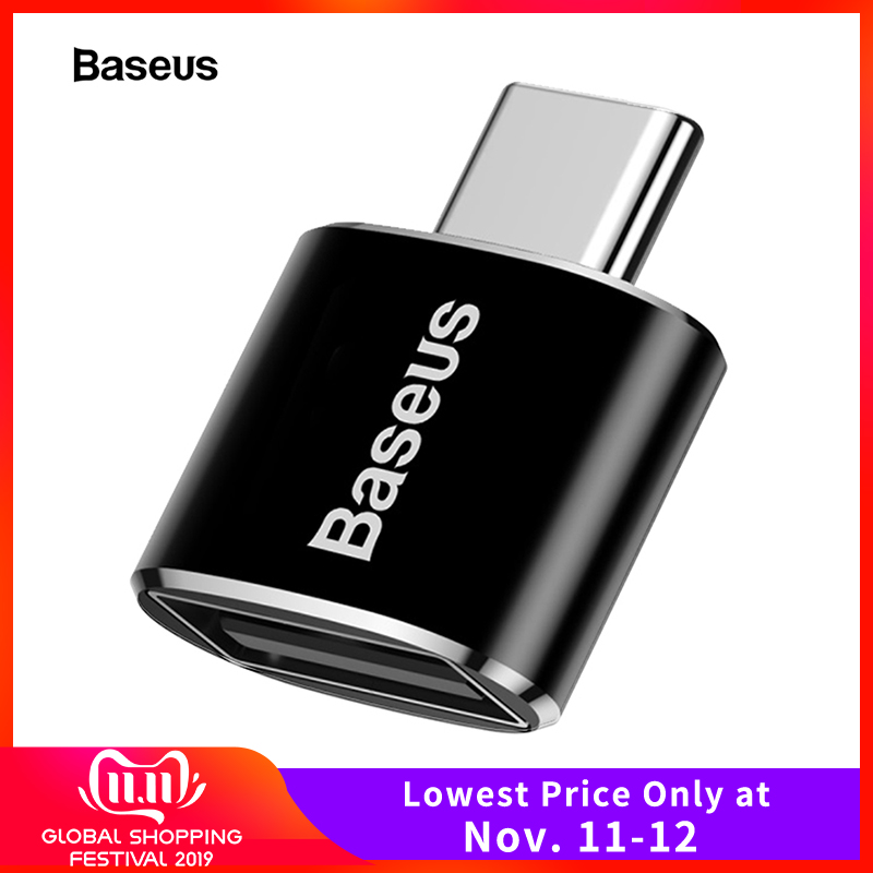 Baseus USB Type C OTG Adapter USBC Type-c Converter For Xiaomi Mi 9 Samsung S10 Note 10 Huawei Mate 30 P30 Pro USB-C Connector