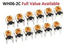 20 adet 10K WH06-2C 101 103 201 501 102 202 502 203 503 104 204 504 105 değişken direnç 2/5/50/k 200R/M ayarlanabilir potansiyometre
